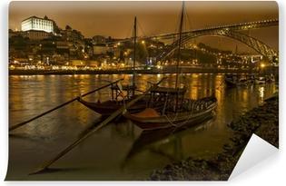 Vinylová Fototapeta Panorama staré Porto s řekou a mostem Duoro