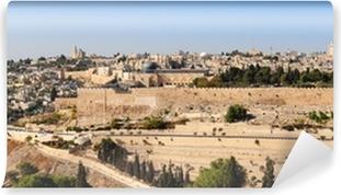 Vinylová Fototapeta Panorama z Jeruzaléma