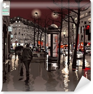 Fototapeta winylowa Paryż nocą