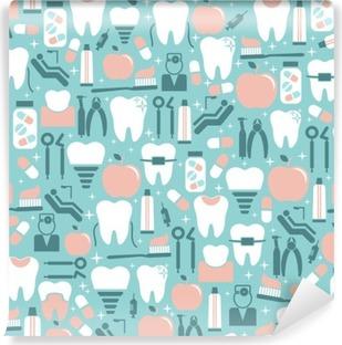 Vinylová Fototapeta Péče o zuby Graphics na modrém pozadí