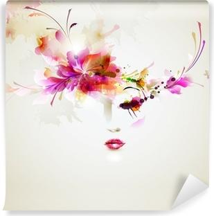 Fototapeta winylowa Piękne kobiety mody z abstrakcyjnych elementów