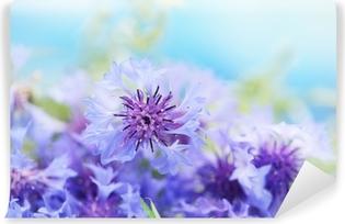585fbdd5389b05 Fototapeta winylowa Kwiaty niebieski chaber. Ilustracji wektorowych. od79  zł. Fototapeta winylowa Piękny bukiet chabry na niebieskim tle