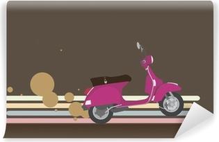 Vinylová Fototapeta Pink Scooter