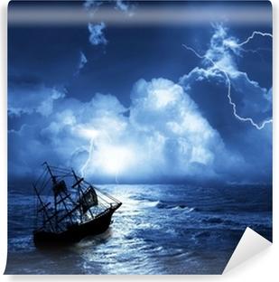 Vinylová Fototapeta Plachetnice v době bouře