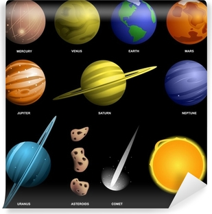 Fototapeta Slunecni Soustava Planet Kreslene Ilustrace Pixers
