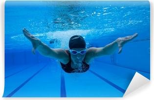 Vinylová Fototapeta Plavání pod vodou