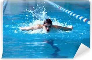 Vinylová Fototapeta Plavec v waterpool plavat jeden z plaveckého stylu