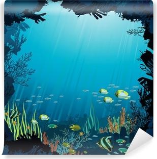 Fototapeta winylowa Podwodne życie - Rafa koralowa i ryby