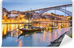 Vinylová Fototapeta Porto, Portugalsko Město Skyline na řece Douro