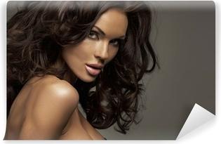 bb750e6b5 Fototapeta Desireble brunetka žena na sobě červené spodní prádlo • Pixers®  • Žijeme pro změnu