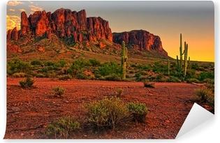 Vinylová Fototapeta Pouštní slunce s hory u Phoenix, Arizona, USA