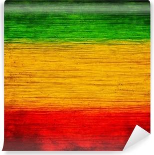 Vinylová Fototapeta Pozadí dřevo zelená, žlutá, červená