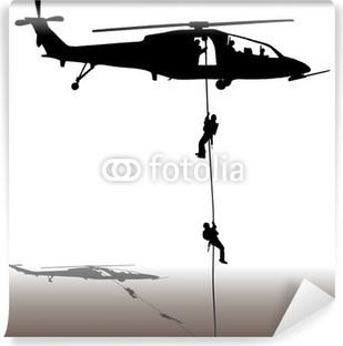 Vinylová Fototapeta Přistání vrtulníku-
