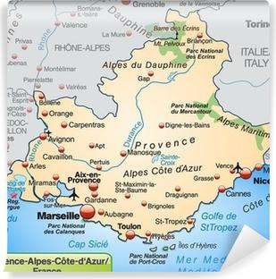 Fototapeta winylowa Prowansja-Alpy-Lazurowe Wybrzeże, w mapie przeglądowej
