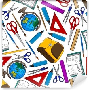 2eef9136c2187 Fototapeta Ołówki kolorowe kreatywnych tapety certyfikat edukacji szkoła  bezszwowe tło wektor wzór • Pixers® • Żyjemy by zmieniać