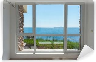 Fototapeta winylowa Pusty pokój z widokiem na morze