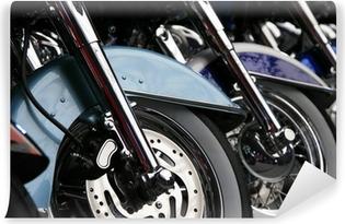 Vinylová Fototapeta Řada motocyklových kol