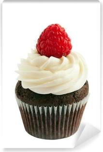 Vinylová Fototapeta Raspberry čokoláda cupcake