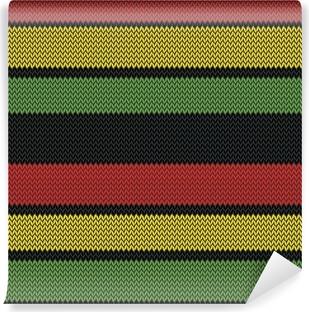 Vinylová Fototapeta Rastafarian pruhy bezešvé vzor