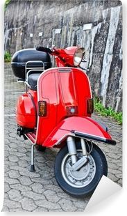 Vinylová Fototapeta Red italský skútr
