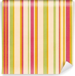 Vinylová Fototapeta Retro pruh vzor se zelenými, růžové, žluté barvy