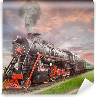 Vinylová Fototapeta Retro Sovětský parní lokomotiva