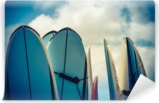 Vinylová Fototapeta Retro stylu Surf Boards Vintage na Havaji