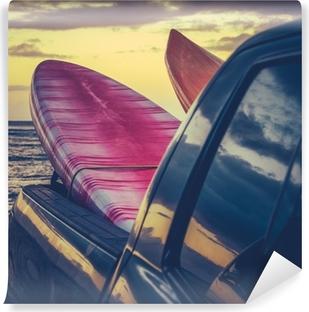 Vinylová Fototapeta Retro surfovací prkna V Truck
