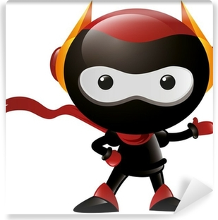 Fototapeta winylowa Robot Ninja Wave