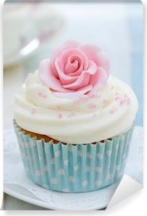 Vinylová Fototapeta Rose cupcake