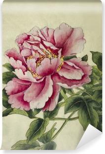 Vinylová Fototapeta Růžová pivoňka květ