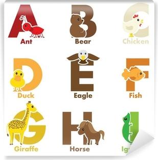 Fototapeta samoprzylepna Alfabet zwierząt