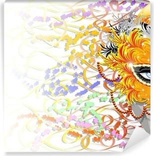 Fototapeta samoprzylepna Carnival Mask Carnival Feathers-Feather Mask
