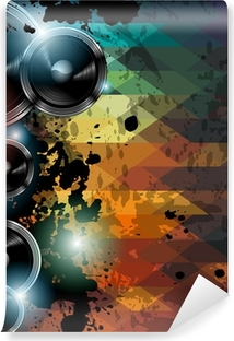 Fototapeta samoprzylepna Disco ulotka szablon klub. Abstract background używać do muzyki