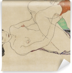 Fototapeta samoprzylepna Egon Schiele - Leżąca naga dziewczyna