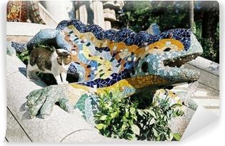 Fototapeta samoprzylepna Fontanna Lizard, Barcelona
