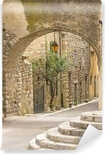 Fototapeta samoprzylepna Francuska wieś, typowa ulica w mieście Provence.
