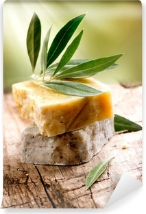 Fototapeta samoprzylepna Handmade Olive Soap. Kosmetyki ekologiczne