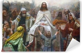 Fototapeta samoprzylepna Jezus w Niedzielę Palmową