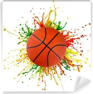 Fototapeta samoprzylepna Kolorowe powitalny z sport piłkę