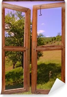 Fototapeta samoprzylepna Krajobraz, widok przez okno