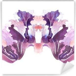 Fototapeta samoprzylepna Kwiaty Iris, akwarela ilustracja