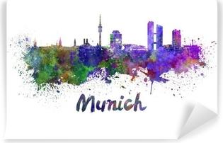 Fototapeta samoprzylepna Monachium skyline w akwarela