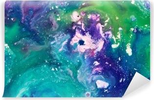 Fototapeta samoprzylepna Niebieskie i zielone tło farby