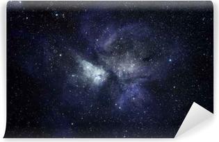 Fototapeta samoprzylepna Niebieskie tło przestrzeni