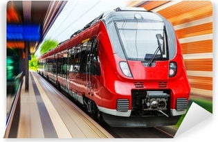 Fototapeta samoprzylepna Nowoczesny pociąg dużych prędkości
