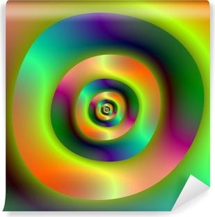 Fototapeta samoprzylepna Pierścienie zewnętrzne wewnętrzne psychodeliczny