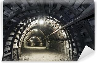 Fototapeta samoprzylepna Podziemny tunel w kopalni węgla kamiennego