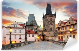 Fototapeta samoprzylepna Praga, widok z Mostu Karola