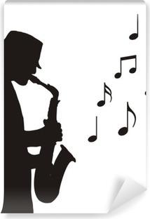 Fototapeta samoprzylepna Saksofonista rysunek